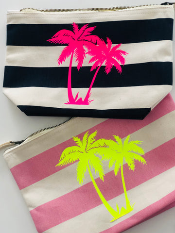 TROPICAL PALM beach pouch