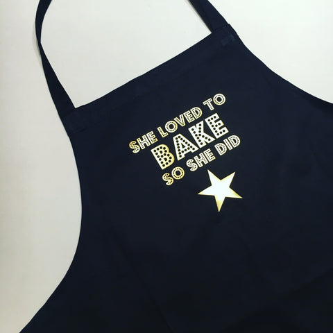 She loved to BAKE so she did Apron