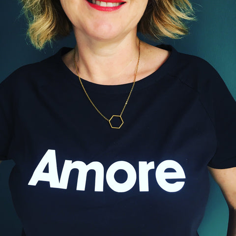 Neon Marl x Gayle Mansfield AMORE t shirt