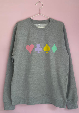 PLAYING CARD sweatshirt