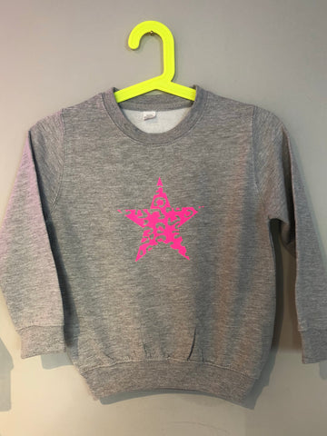 Kids LEOPARD STAR sweatshirt