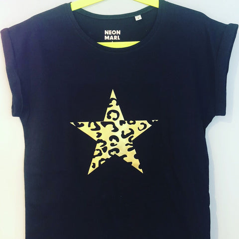 LEOPARD STAR t shirt
