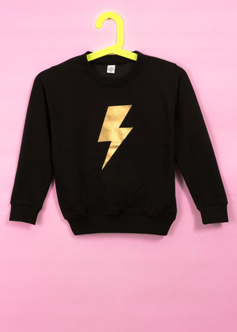 Kids Bolt Print Sweatshirt