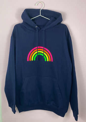 NAVY MULTI RAINBOW summer light weight hoodie