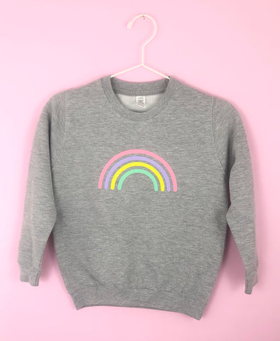 Kids MULTI PASTEL RAINBOW sweatshirt