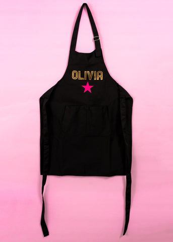Kids personalised star apron