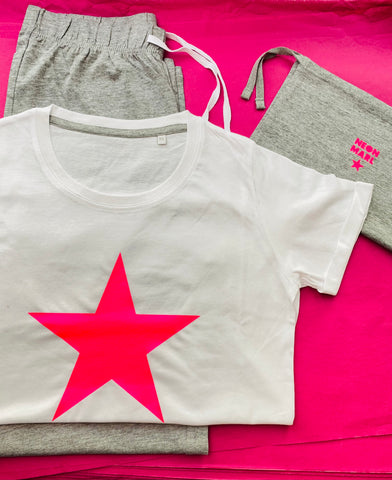 Ladies NEON STAR pyjamas