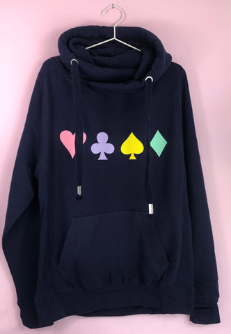 PLAYING CARDS cowl hoodie