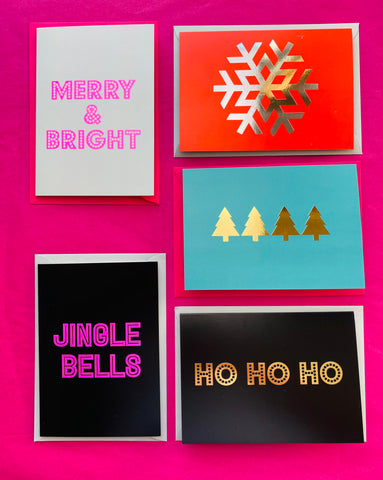 Neon Marl CHRISTMAS CARDS
