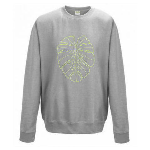 Boyfriend Fit Monstera Leaf print Sweatshirt