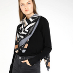 LIU JO  'Zebra' Scarf TRAVERTINE