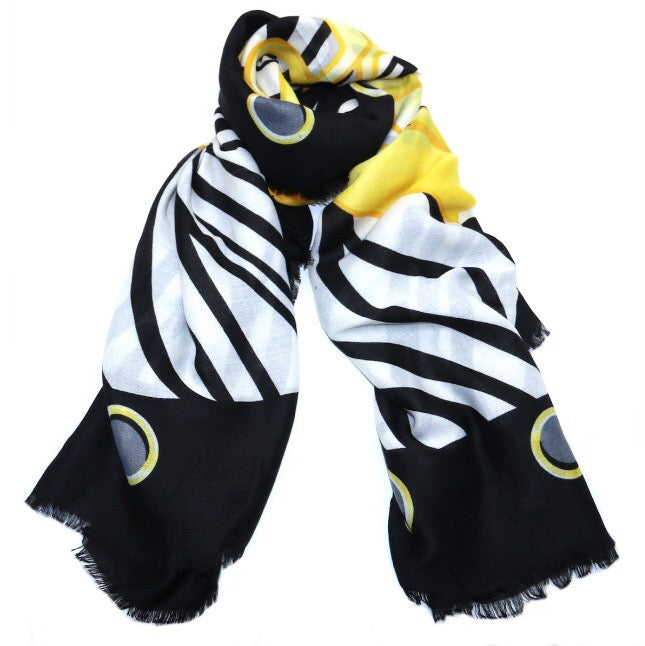 GUESS Zebra and Logo Scarf