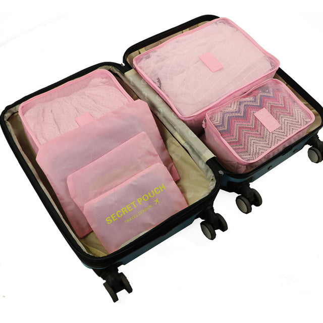 6 Pcs/Set Travel Organizer - Multifunction Pouches