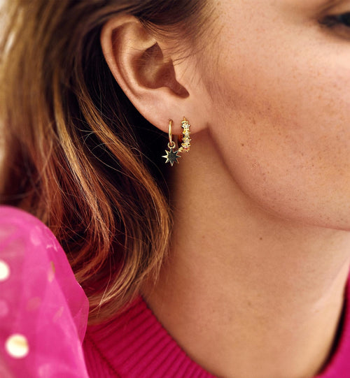 Starry Ring Earrings Gold