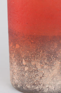 Ian Snow Frosted Dip Dyed Votive Red