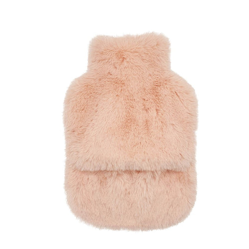 Faux Fur Hot Water Bottle Nude