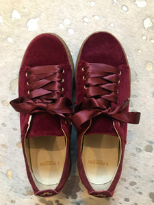 M.Moustache Renee Plateau Burgundy Trainers