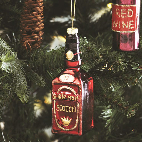 Let's Celebrate Scotch Bottle Shaped Bauble
