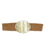 Brown Shell Buckle Belt