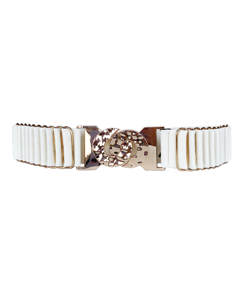 Cream with Gold Detailing Belt