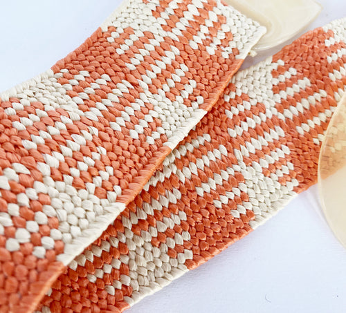 Orange and Cream Pattern Belt