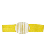 Yellow Shell Buckle Belt