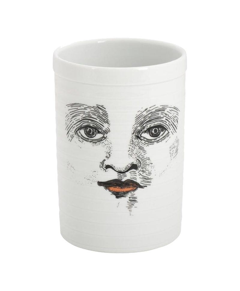 Ceramic Storage Jar Face