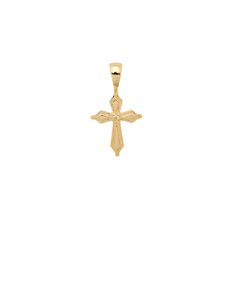 Madonna Cross Necklace Charm Gold