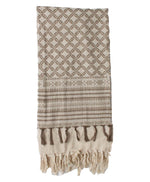 Embroidered Taupe Scarf