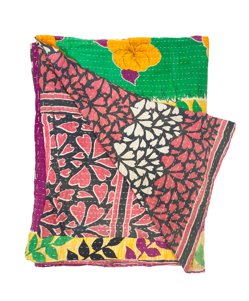 Patterned Kantha Throw