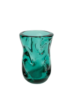 Vintage Whitefriars Teal Glass Vase