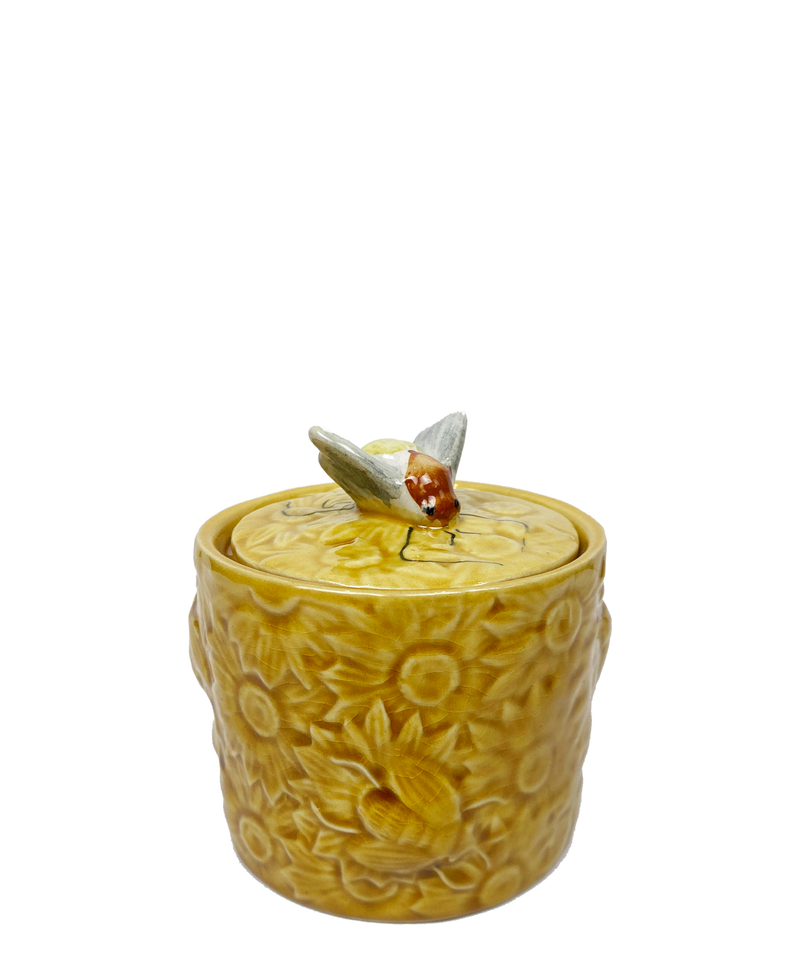 Vintage Yellow Honey Pot