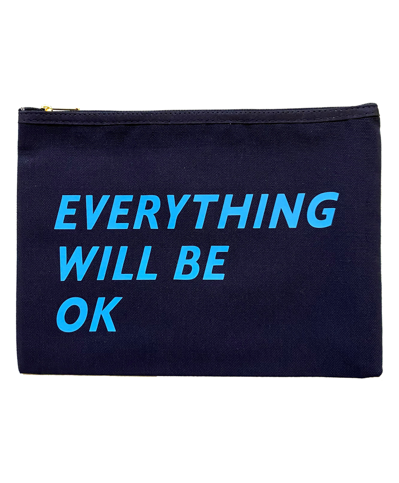 Navy 'Everything Will Be Ok' Purse