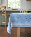 Sapphire Cotton Hand Block Printed Tablecloth