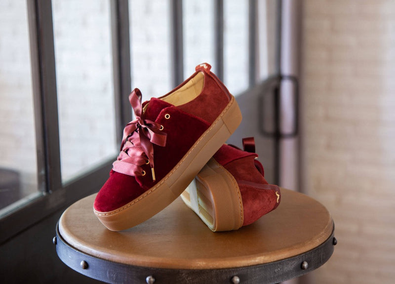 Renee Plateau Burgundy Trainers