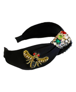Bee Embellished Black Hairband