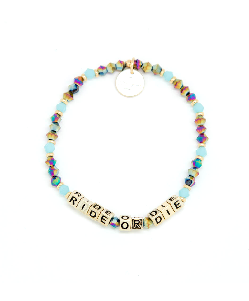 RIDE OR DIE Gold Letter Bracelet