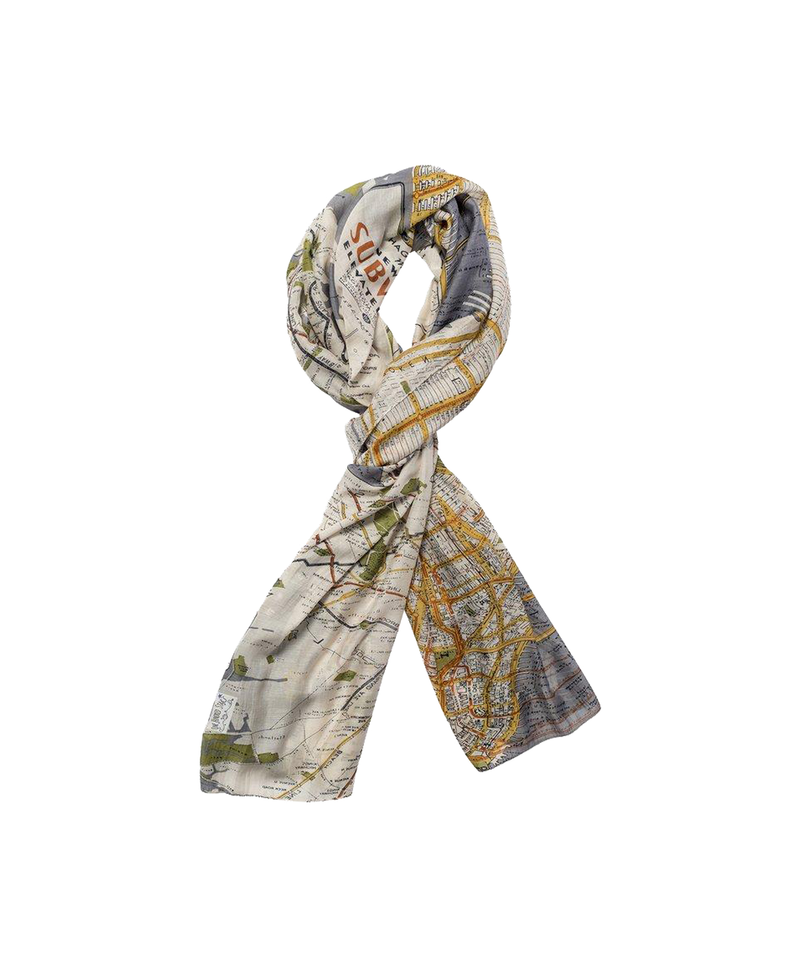 New York City Maps Scarf