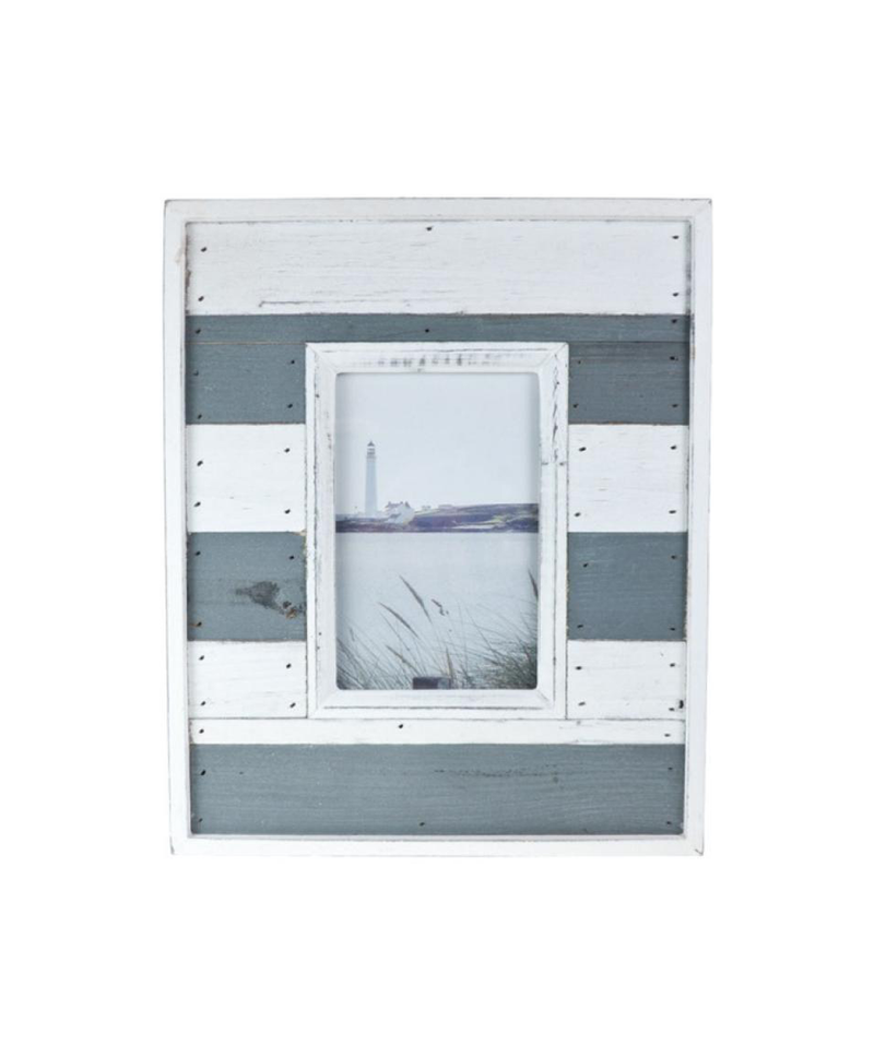 Grey & White Beach Hut Frame