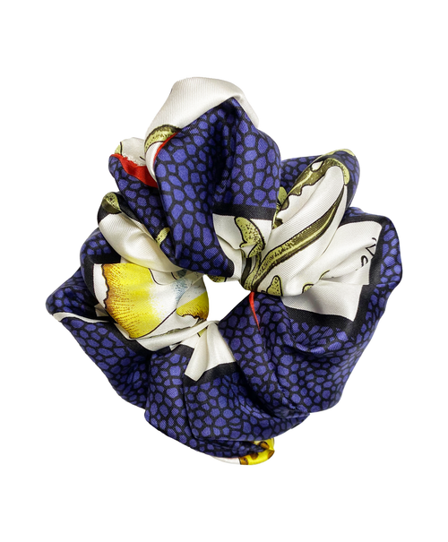Salvatore Ferragamo Maldives Tropical Seashell Silk Scrunchie