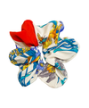 Emanuel Ungaro Red Floral Silk Scrunchie