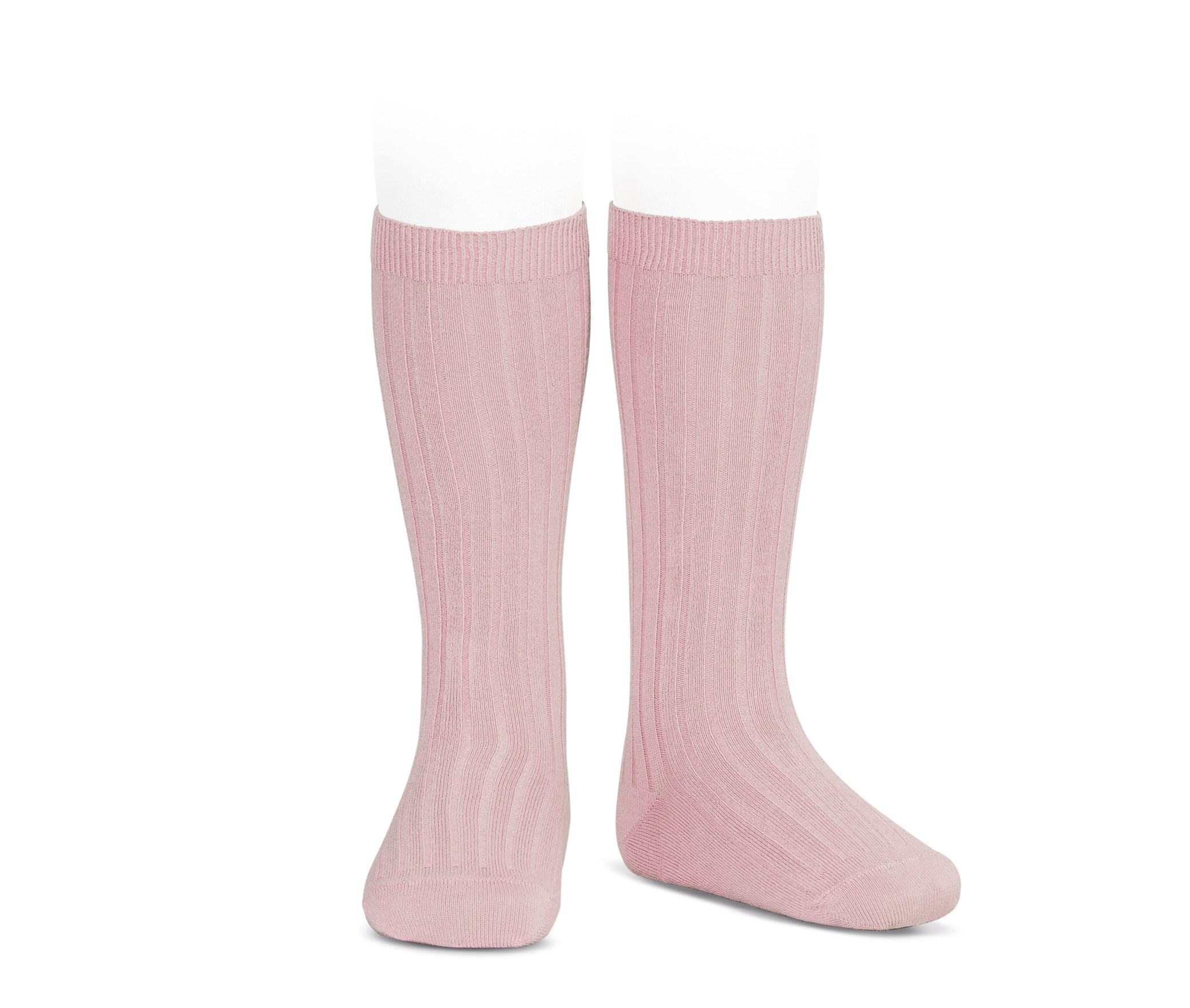 Rose Ribbed knee high socks