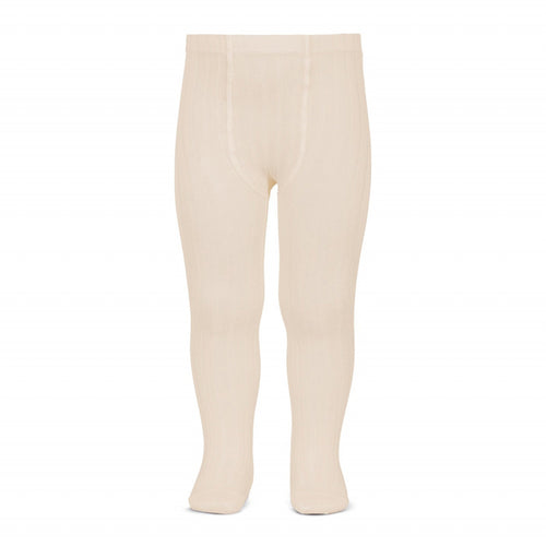 Ribbed Tights in Linen