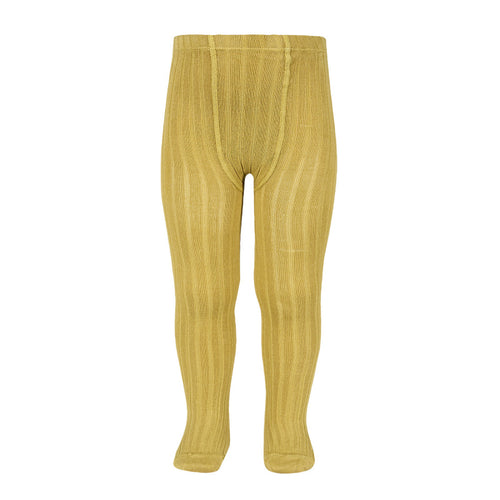Ribbed Tights in Mustard