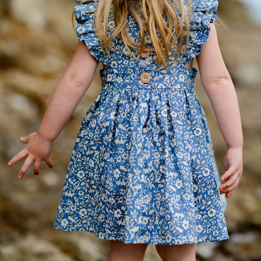 Liberty Blue polly pinafore