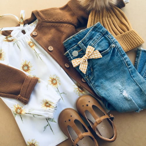 Sunflower long sleeve smock/blouse