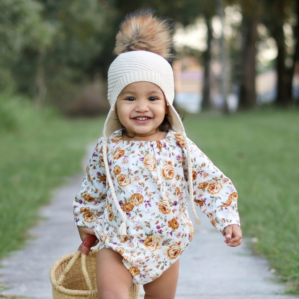 Butterscotch Floral Long Sleeve Romper/Top