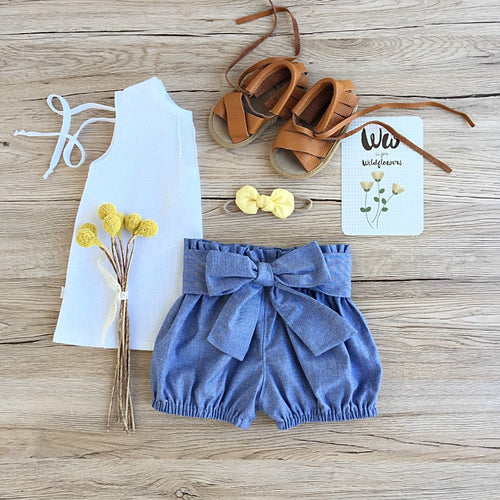 Sleeveless Swing top in White