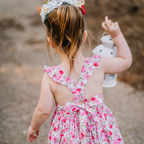 Holly Floral Pinafore Dress