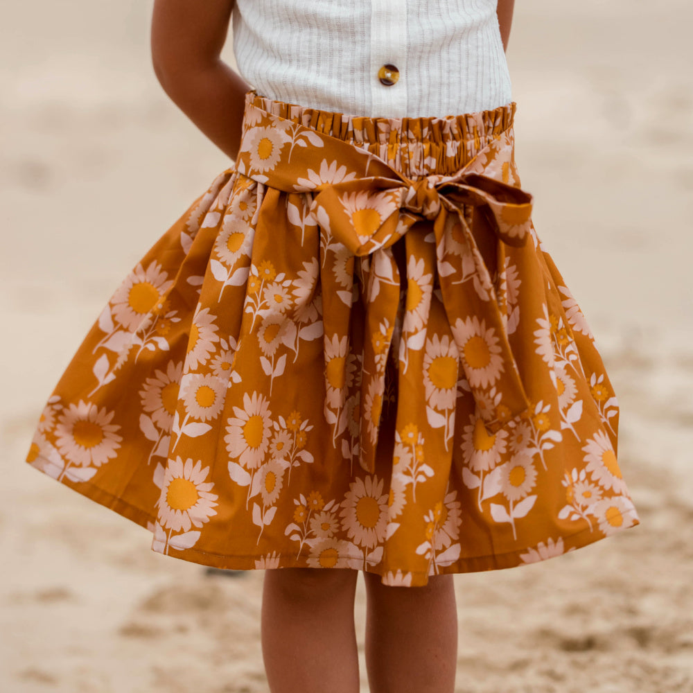 Earth floral Sash Skirt